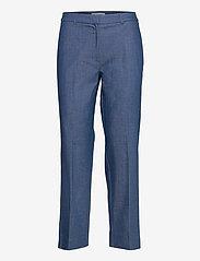 Selected Femme - SLFJEANNE-EMI MW DENIM PANT W - broeken med straight ben - dark blue - 0