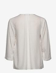 Selected Femme - SLFEVA 3/4 TOP B - long sleeved blouses - snow white - 1