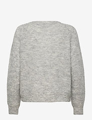 Selected Femme - SLFLULU LS KNIT SHORT CARDIGAN - vesten - light grey melange - 1