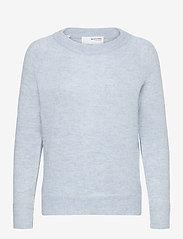 Selected Femme - SLFLULU LS KNIT O-NECK - tröjor - cashmere blue - 0