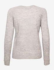 Selected Femme - SLFLULU LS KNIT O-NECK - truien - light grey melange - 1