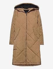 Selected Femme - SLFMARAN PADDED COAT B - padded coats - tigers eye - 0
