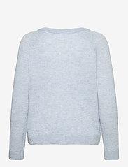 Selected Femme - SLFLULU LS KNIT V-NECK - pullover - cashmere blue - 1