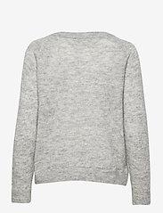 Selected Femme - SLFLULU LS KNIT V-NECK B - tröjor - light grey melange - 1