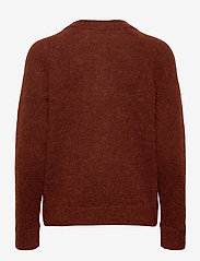 Selected Femme - SLFLULU LS KNIT V-NECK B - tröjor - smoked paprika - 1
