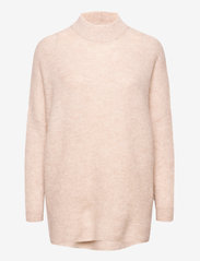 Selected Femme - SLFLULU ENICA LS KNIT O-NECK - truien - birch - 0