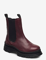 Selected Femme - SLFLUCY LEATHER CHELSEAOOT - chelsea boots - winetasting - 0