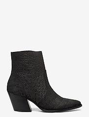 Selected Femme - SLFJULIE SUEDE CROCO BOOT B - ankelstøvler med hæl - black - 1