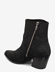 Selected Femme - SLFJULIE SUEDE CROCO BOOT B - ankelstøvler med hæl - black - 2