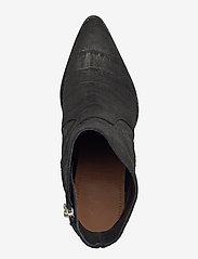Selected Femme - SLFJULIE SUEDE CROCO BOOT B - ankelstøvler med hæl - black - 3