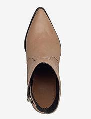 Selected Femme - SLFJULIE LEATHER BOOT B - ankelstøvler med hæl - tigers eye - 3