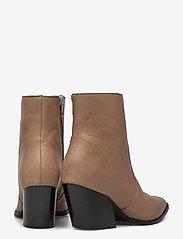 Selected Femme - SLFJULIE LEATHER BOOT B - ankelstøvler med hæl - tigers eye - 4