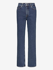 Selected Femme - SLFKATE HW STRAIGH LONG HARBOURLU JEAN - straight regular - medium blue denim - 0