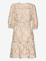 Selected Femme - SLFSADIE V NECK  3/4 SHORT DRESS EX - vardagsklänningar - sandshell - 1