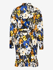 Selected Femme - SLFRONNA-TONIA AOP LS SHORT DRESS B - sommerkjoler - sudan brown - 1