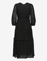 Selected Femme - SLFCECE-SADIE 3/4 MIDI DRESS - midi dresses - black - 1