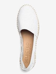 Selected Femme - SLFELLEN LEATHER ESPADRILLES - flache espadrilles - white - 3