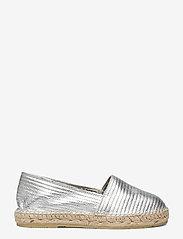Selected Femme - SLFELLEN METALLIC ESPADRILLES - platta espadriller - silver - 1