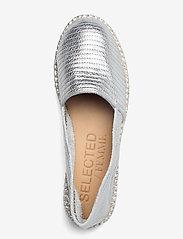 Selected Femme - SLFELLEN METALLIC ESPADRILLES - platta espadriller - silver - 3