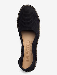 Selected Femme - SLFELLEN SUEDE ESPADRILLES B - flade espadrillos - black - 3