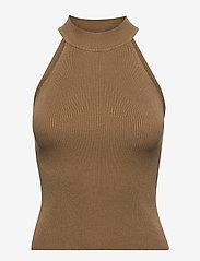 Selected Femme - SLFSOLITA SL KNIT TOP M - strikkede toppe - kelp - 0
