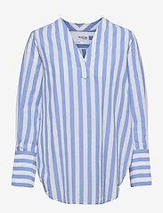 Selected Femme - SLFKELLY LS V-NECK STRIPED TOP W - jeanshemden - bright white - 0