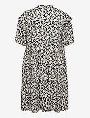 Selected Femme - SLFPAULINA AOP 2/4 SHORT DRESS - sommerkjoler - black - 1