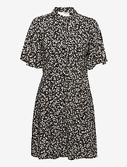 Selected Femme - SLFUMA 2/4 SHORT AOP SHIRT DRESS M - midi-kleider - black - 0