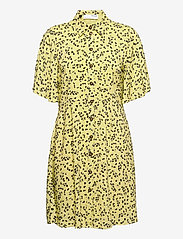 SLFUMA 2/4 SHORT AOP SHIRT DRESS M - YOUNG WHEAT
