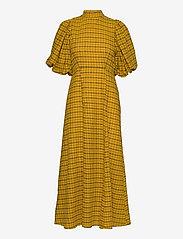 Selected Femme - SLFCHECKIE 2/4 ANKLE DRESS G - sommerkjoler - arrowwood - 0