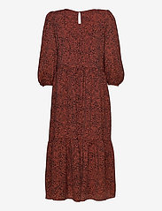Selected Femme - SLFVIOLE 3/4 MIDI AOP DRESS B - midi-kleider - chili oil - 1