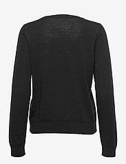 Selected Femme - SLFMAGDA WOOL LS KNIT O-NECK S - pullover - black - 1