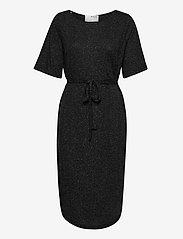 Selected Femme - SLFIVY 2/4EACH DRESS SOLID M - sommerkleider - black - 0