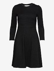 Selected Femme - SLFSTELLA 7/8 SKATER DRESS B - sommerkleider - black - 0