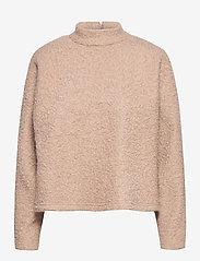 Selected Femme - SLFHALLI LS TOP EX - mid layer jackets - tigers eye - 0