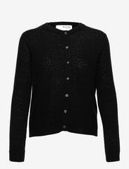 Selected Femme - SLFFUDGE CASHMERE LS KNIT CARDIGAN B - cardigans - black - 0