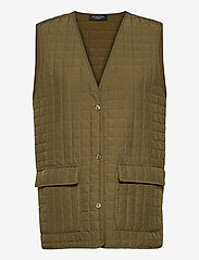Selected Femme - SLFGINNA SL QUILTED VEST EX - puffer vests - olive night - 0