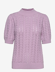 Selected Femme - SLFJULIANA SS KNIT HIGH NECK B EX - strikkede toppe - fair orchid - 0
