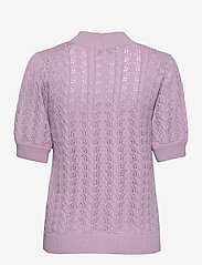 Selected Femme - SLFJULIANA SS KNIT HIGH NECK B EX - strikkede toppe - fair orchid - 1