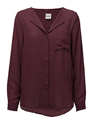 SFDYNELLA LS SHIRT F NOOS - MAUVE WINE