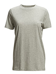 SLFMY PERFECT SS TEE BOX CUT NOOS - LIGHT GREY MELANGE