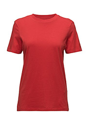 SLFMY PERFECT SS TEE BOX CUT COLOR - MARS RED