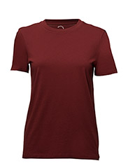 SFMY PERFECT SS TEE - BOX CUT COLOR - SYRAH