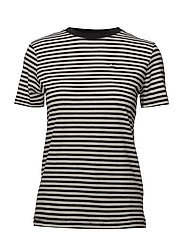 SFMY PERFECT SS TEE - BOX CUT-STRI. NOOS - BLACK