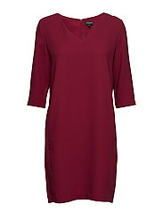 SFTUNNI SMILE 3/4 DRESS - BEET RED