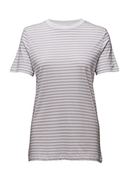 SFMY PERFECT SS TEE - BOX CUT-STRI COLOR - EVENING HAZE