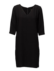 SLFTUNNI SMILE 3/4 DRESS NOOS - BLACK