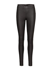 SLFSYLVIA MW STRETCH LEATHER LEGGIN NOOS - BLACK