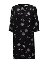 SFDANDELION 3/4 DRESS MU - BLACK