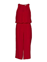 SFBADELIA SL CROPPED JUMPSUIT H - LIPSTICK RED